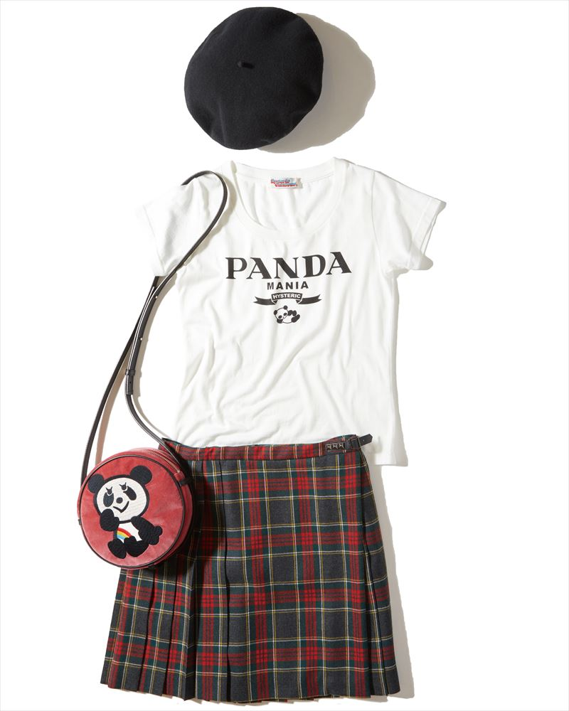 '90s的ストリートパンクには ベレー、チビT、チェックミニが 三種の神器!<br><br>Three sacred fashion items in &#8217;90s street punk scene are &#8220;beret&#8221; &#8220;short length Tee&#8221; and &#8220;plaid patterned mini skirt.&#8221;