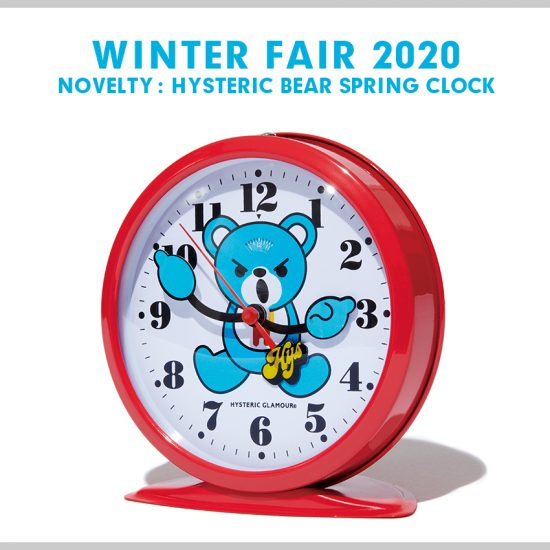Diameter: 28cm Hysteric Glamour Winter Fair 2019 Novelty Table Neon Clock Bear